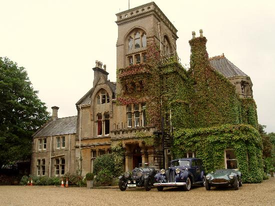Corsham, UK : Front view of Rudloe Hall Hotel