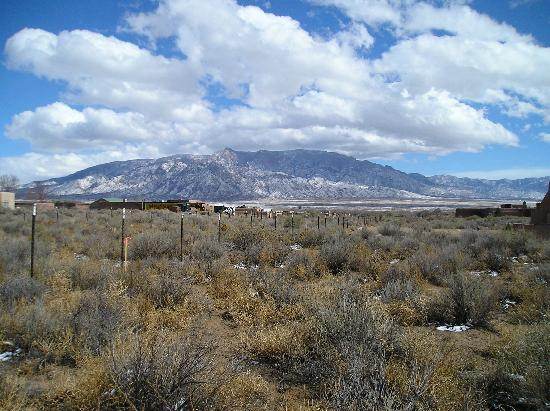 Sandias from Corrales with snow