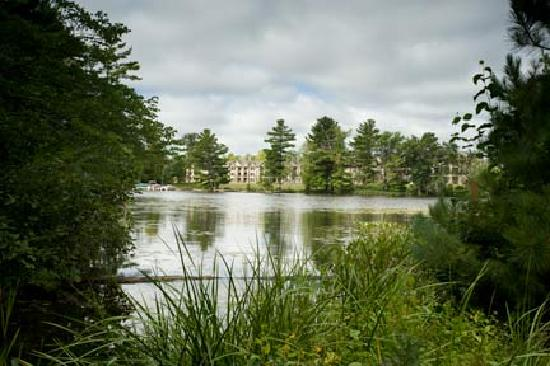 Northernaire Resort: photo from across the lake