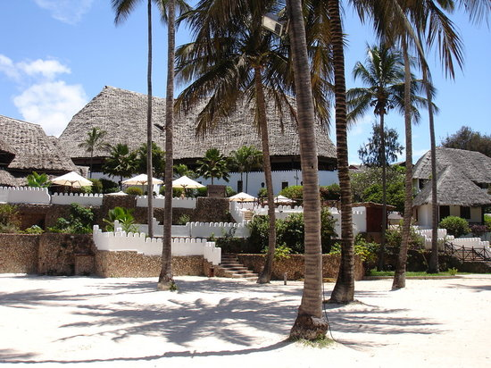 Diamonds Mapenzi Beach: Main Building from Hotel Beach