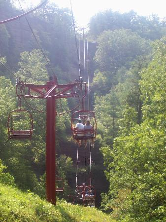 Slade, KY: The view from the sky lift up to Natural bridge