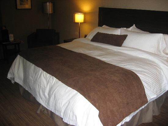 Delta Hotels Calgary Airport In-Terminal: lovely king size bed