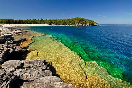 Tobermory, Canada: Nice spot along the Georgian Bay Trail within BP National Park