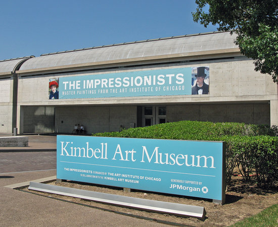 Fort Worth, TX : Front of the museum, July 20, 2008.