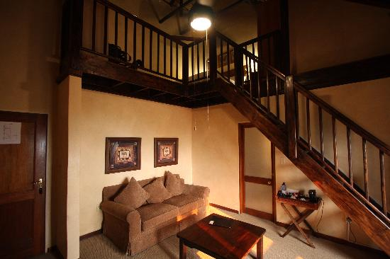 Chimp Eden Boutique Hotel: Lofted Suite from living area