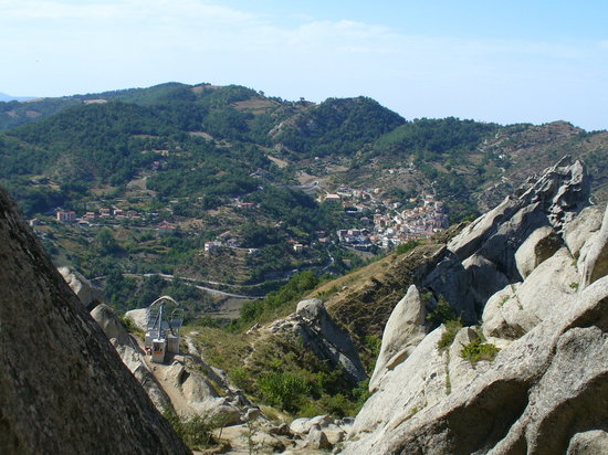 Launch location looking at Castelmezzano