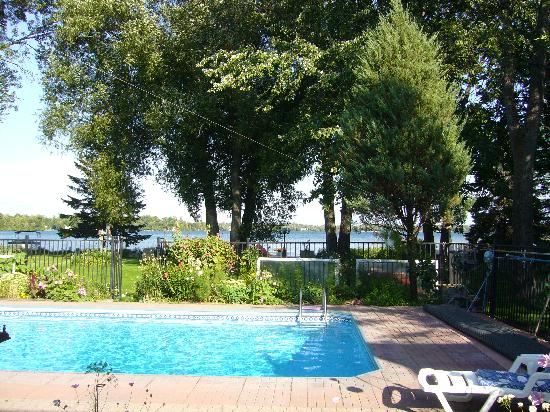 Brasscranes Bed & Breakfast: Pool and lake - view from the house