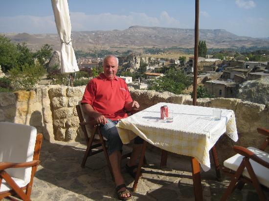 Esbelli Evi: Breakfast on terrace