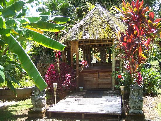 Coconut Cottage Bed & Breakfast: The hot tub