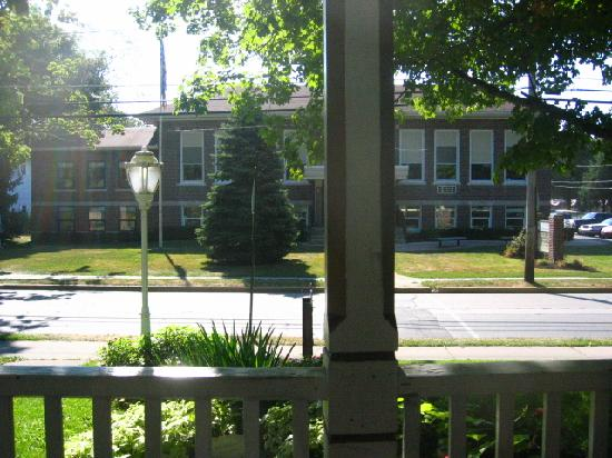 Ashley's Island House: view of school from porch