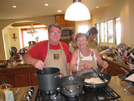 Lajollacooks4u: Grandpa & Great Grandma in the kitchen....