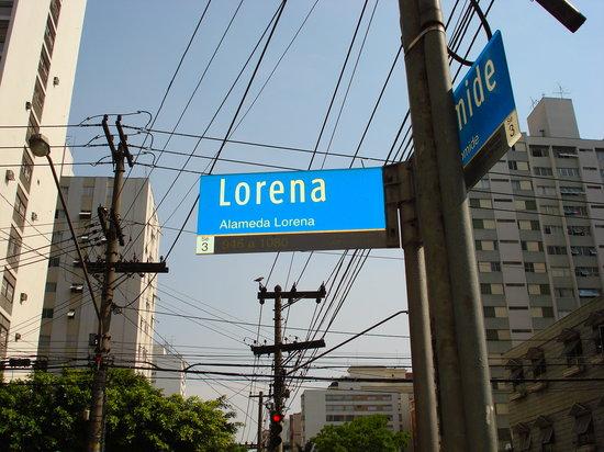Jardins District: Lorena St. in Jardins Paulista
