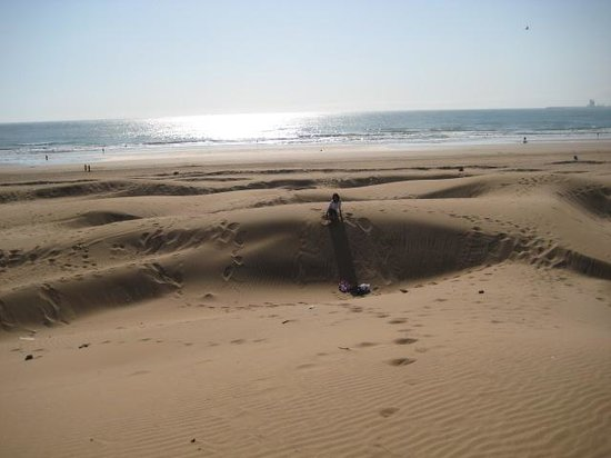 Agadir Beach: Sand dunes on the beach :D