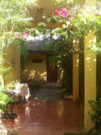 Hotel Macanche Bed & Breakfast: Walkway to cabin.