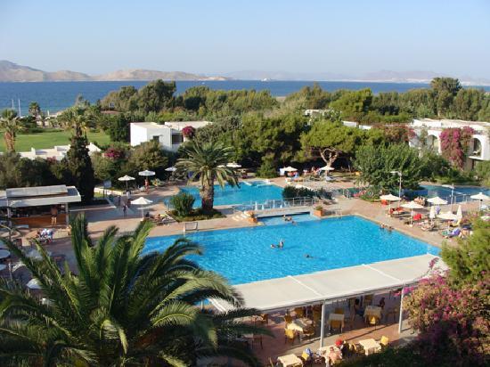 Caravia Beach Hotel: vue générale prise du 4ième étage