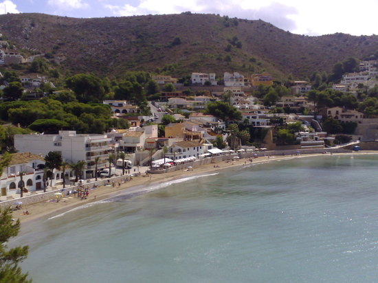 Moraira, Spain: El Portet beach