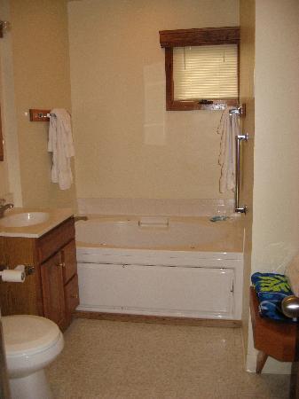 Ridge Top Village at Shawnee: Bath~Room{downstairs with hot tub}