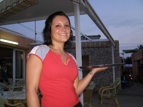 Playa Dorada Aparthotel : Kerrie from the Mega garden restaurant