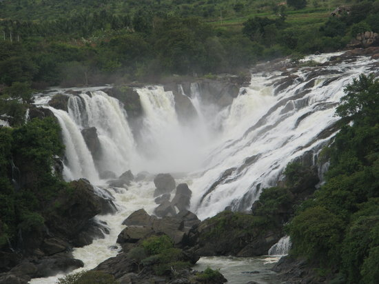 Mandya, อินเดีย: Only part of the falls!! Amazing