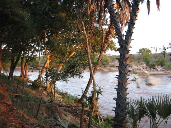 Sarova Shaba Game Lodge : River in front of the rooms