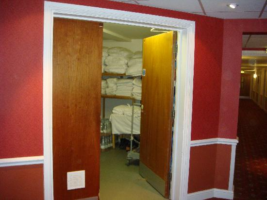 Warner Cricket St. Thomas Hotel Fire Door to Linen Room  wedged open  & Fire Door to Linen Room