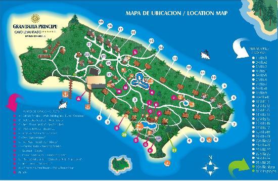 Island map picture of luxury bahia principe cayo for Hotel luxury grand bahia principe cayo levantado