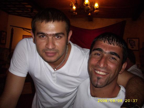 San Giorgio Restaurant: Bilal (right) with lovely waiter