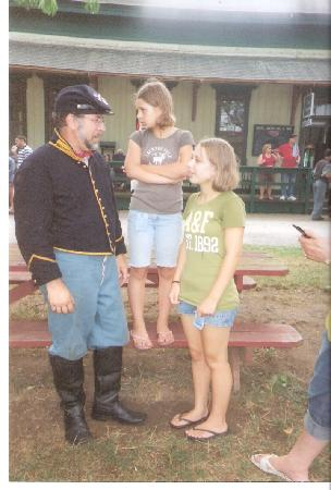 Genesee Country Village & Museum: Pvt. Jim Hurley, 9th NYV cavalry & daughters