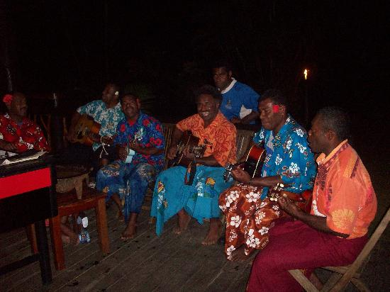 Uprising Beach Resort: the band which plays nightly
