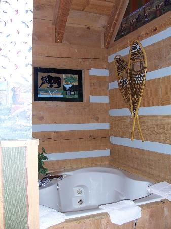Timberwinds Log Cabins: jacuzzi
