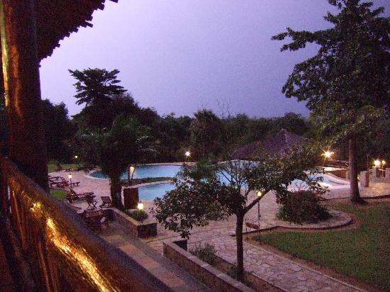 Murchison Falls National Park, Uganda: View from the restaurant terrace
