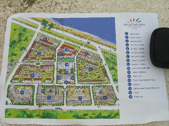 Map of the hotel Picture of Estival Park Salou La Pineda