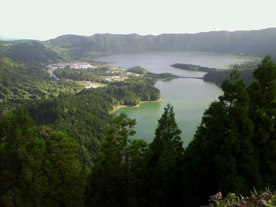 Azores, Portekiz: Sao Miguel-lago verde e azzurro