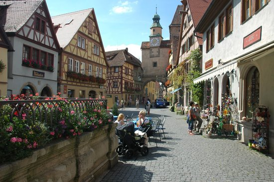 Rothenburg, Tyskland: Pretty streets