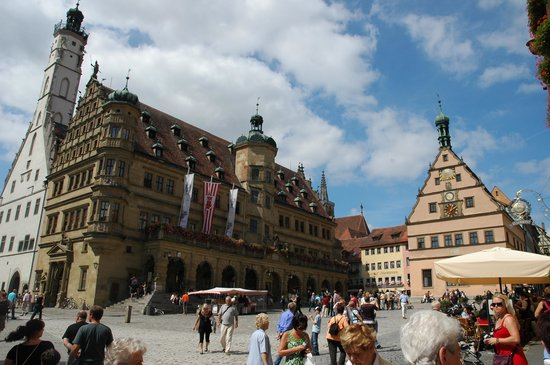 Rothenburg, Jerman: sqaure