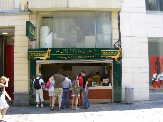 Belgium: Australian Ice-Cream shop in Ghent