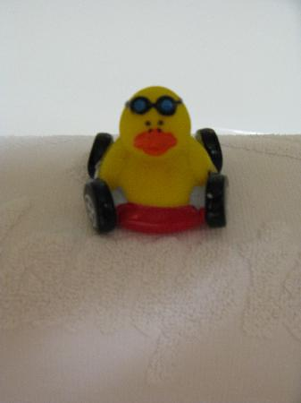 Hampton Inn by Hilton Joliet I-55: Rubber duckie placed in each bathroom