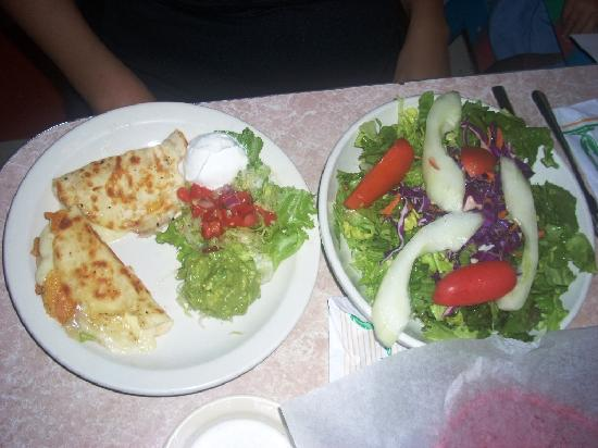 Chuy's Restaurant: Quesadilla and salad combo at Chuy's on Barton Springs in Austin