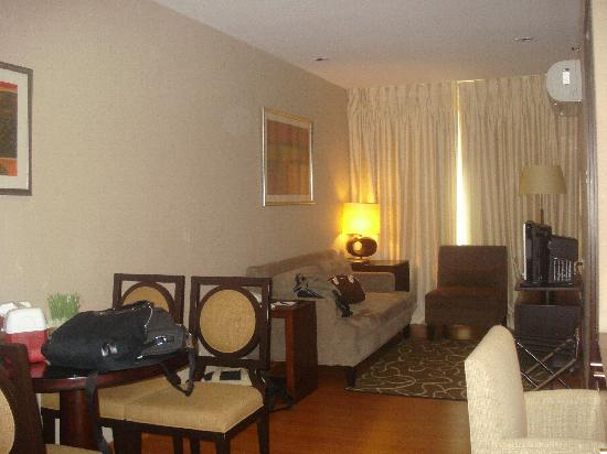 The A.Venue Hotel : living area of 1-bedroom suite