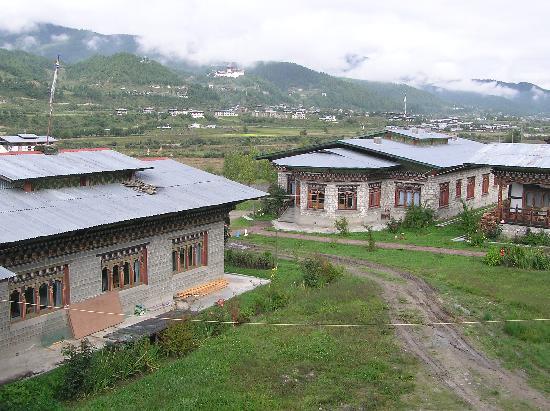 Gongkhar Guesthouse: Back of reception/restaurant
