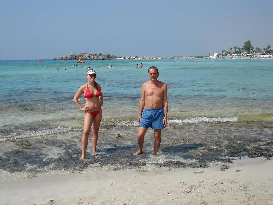 Nissi Beach Resort: Daughter and me on the beach