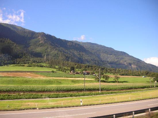 Coire, Suisse : Kurz nach Chur Richtung Süden