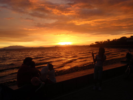 Manilla, Filippijnen: Sunset en Manila Bay