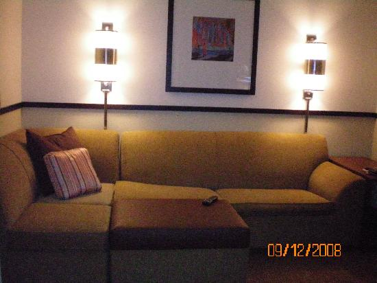 Hyatt Place Baltimore/BWI Airport: Awesome sofa and ottoman