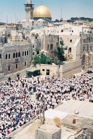 Jerusalén, Israel: Dome of the Rock overlooks Jewish Quarter