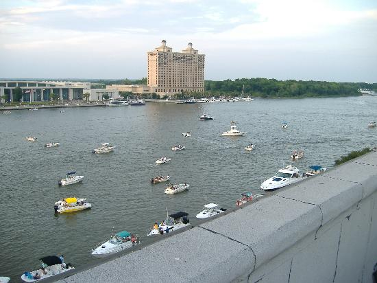 River Street Inn: Roof-top view across the Savannah River