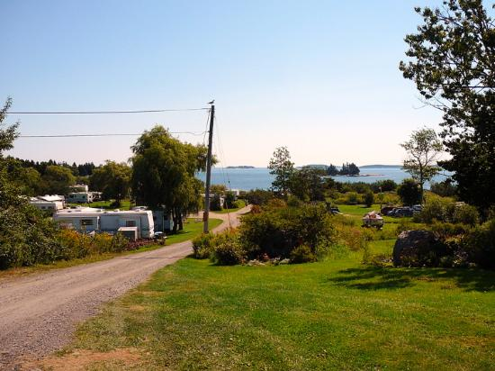 Lobster Buoy Campsites: View from main entrance (Southeast)