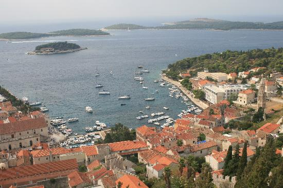 House Gordana: looking down on the town from the fort