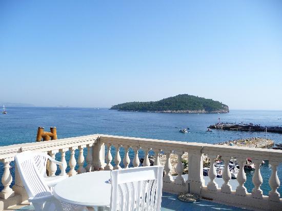 Villa Adriatica: view of Lokrum Island from terrace