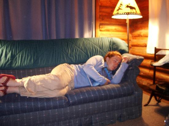 Whispering Pine Lodge: inside cabin 2